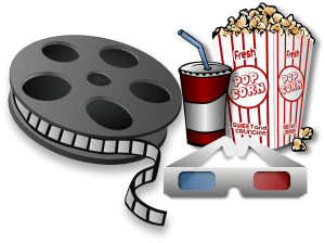 action movies go with some popcorn