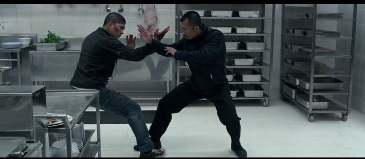 fight scene in the kitchen from Raid 2