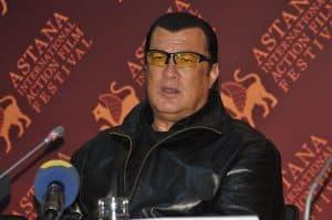 steven seagal in a press conference