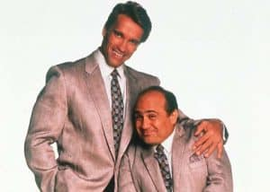 arnold and dany de vito in the hit comedy twins