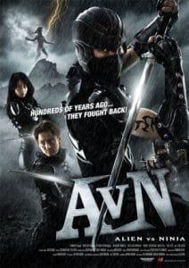 alien vs ninja movie poster