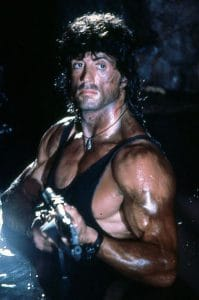 Sly Stallone as John Rambo