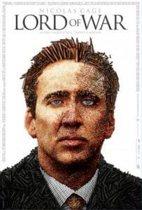 Lord of war movie poster starring nic cage
