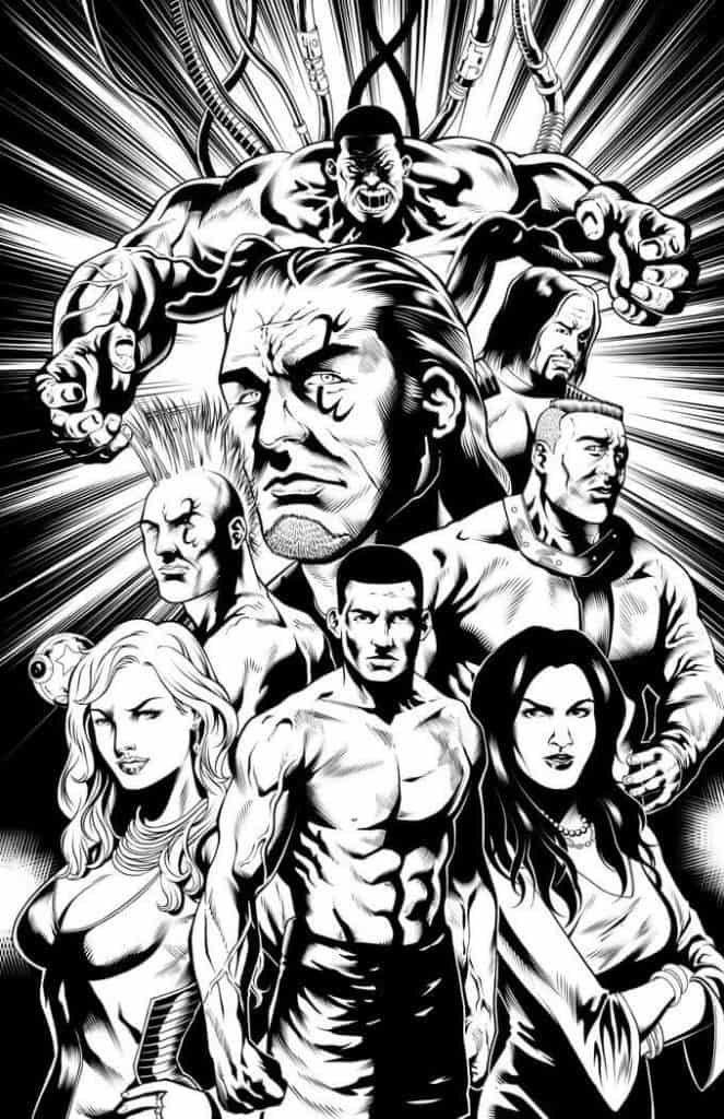 cast poster for the graphic novel fight of the century