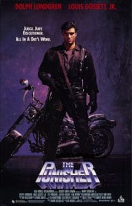 Dolph Lundgren is The Punisher in the epynomous action movie from 1989