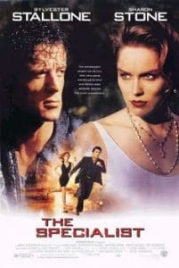 the specialist movie poster starring Sylvester Stallone and Sharon Stone