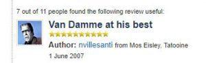 van damme's movie double impact rated on imdb