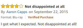 a customer review on amazon about the movie showdown in little tokyo on blu ray