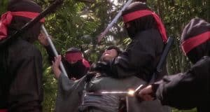 evil ninjas kill a man